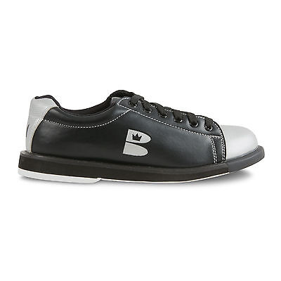 Brunswick Tzone Unisex Youth's Bowling Shoes Black Silver NEW GENUINE AUTHENTIC