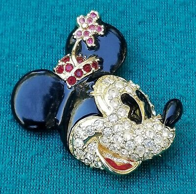 VINTAGE DISNEY NAPIER  MINNIE MOUSE ENAMEL  PIN BROOCH- Fast Ship!