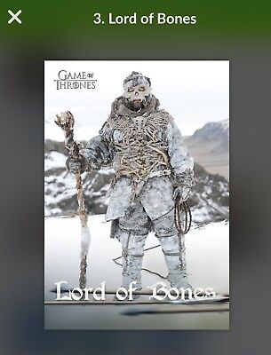 Quidd Game Of Thrones - The Free Folks - #30/7000 Lord Of Bones 1st Edition