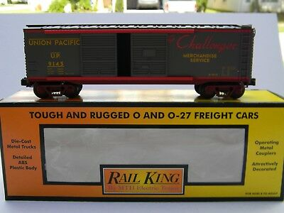 O Scale - MTH Rail King - Union Pacific 40' Double Door Box Car Train 30-74105!