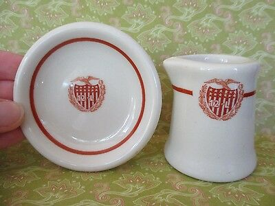 12-L Butter Pat and Creamer Vintage Collectible
