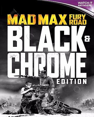MAD MAX: FURY ROAD - BLACK & CHROME EDITION* Digital HD Ultraviolet UV Code ONLY