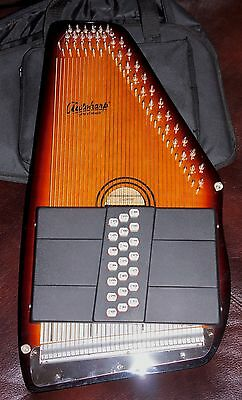 Oscar Schmidt 21 Chord Autoharp OS21C With Case and Electronic Tuner