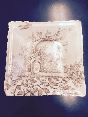 Antique VIntage B&L Pottery England Rustic Pattern Collectible #56790 dish tray