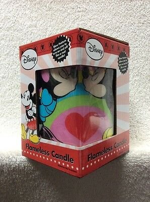 Disney's Mickey and Minnie Mouse Love and Kisses Square Flameless Candle NEW!!!