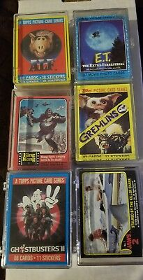 Lot of (6) Different Non-Sports 70's-80's Movie/TV Trading Card Complete Sets