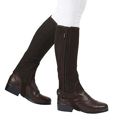(Large, Brown) - Dublin Childs Easy Care Half Chaps. Free Delivery