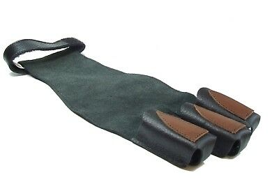 (Large) - New Red Frog Archery Traditional Leather Shooting Glove for Draw Hand