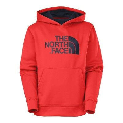 (MD (10-12 Big Kids), Fiery Red) - The North Face Logo Surgent Pullover Hoodie