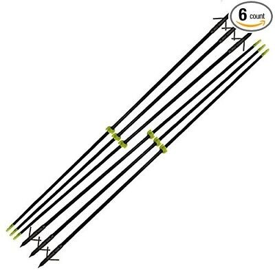 90cm Bow Fishing Fish Arrows Arrowheads with Silver Torpedo Tip and Black