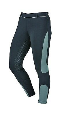 (28, Black/Charcoal) - Dublin Performance Mesh Flex Riding Tights. Weatherbeeta