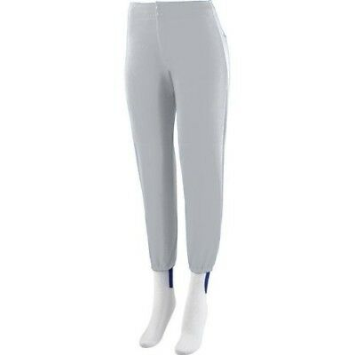 (Adult 2XL (37-39), Grey) - Girls/Women's Softball Low Rise Pants Ladies Fit
