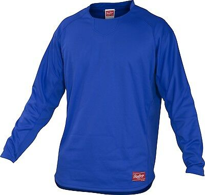 (X-Large, Royal) - Rawlings Youth Dugout Fleece Pullover. Huge Saving