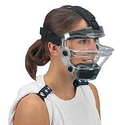 Game Face Medium Clear Sports Safety Mask with Black T-Harness. Best Price