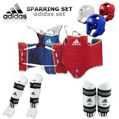 (Large, White) - [GTE Zone] Adidas TKD WTF Approved TAEKWONDO Sparring Gear