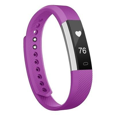 (HR Plum-Silver, With Heart Rate Monitor) - moreFit Slim HR Heart Rate