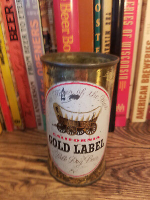 California Gold Label 12oz Flat Top Beer Can