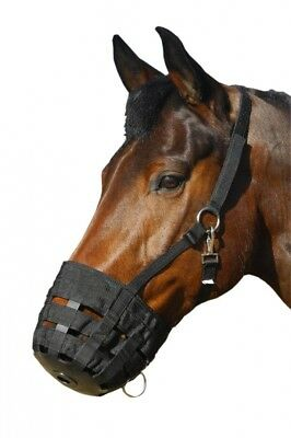 (Pony) - Horse Grazing Muzzle - Restricts Grazing - For Overweignt Horses Or