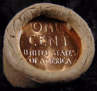 Tails BU HALF ROLL solid date obw bank Lincoln Wheat cent pennies Uncirculated