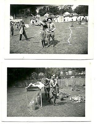"Vintage 1930's Photograph Lot of Two ""Boy Scouts"""