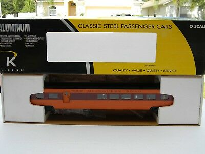 "O Scale - K-Line - Milwaukee ""Hiawatha"" (21"") Aluminum Diner Passenger Car Train"