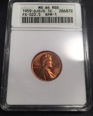 1959-D/D/D RPM-1 FS-022.5 MS64 RD Lincoln Cent - Two Available - See Photos