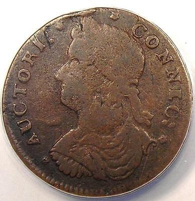 1787 Draped Bust Left Connecticut Colonial Copper Coin - ANACS VF20 - Rare!