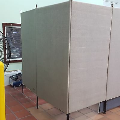"""Armstrong Displays For Artists Office Partitions Grey 7' X 38"""" A Panel 6 Panels"""