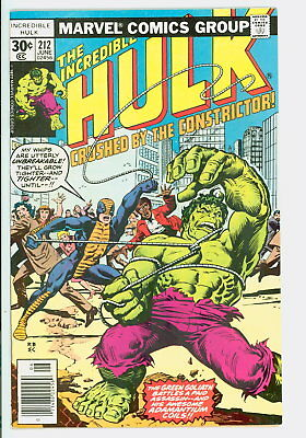 Incredible Hulk #212 Marvel 1977 NM 1st Appearance of the Constrictor