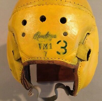 Green Bay Packers 1930s 1940s Antique Rawlings VM 1 Leather Football Helmet Rare
