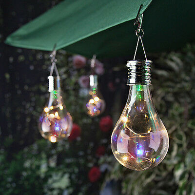 Solar Rotatable Outdoor Waterproof Garden Camping Hanging LED Light Lamp Bulb