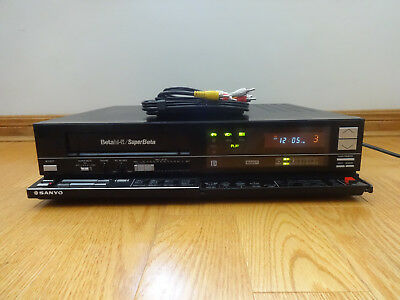 Sanyo VCR 7250 Super Beta VCR Video Cassette Recorder 1985 Japan TESTED Working