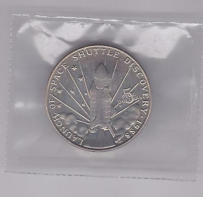 1988 Marshall Islands $5 Proof Coin Launch of Space Shuttle Discovery Sealed