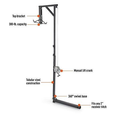 Deer Hoist Rope Pulley Truck Game Hanger and Gambrel, Swivel Hitch Lift System,