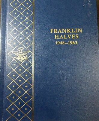 Complete Set of 35 Franklin Half Dollars 1948-1963 in album w/ some UNC Coins!