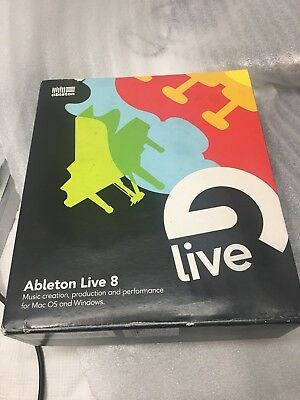 Ableton Suite Live 8 FULL VERSION with installation disk and SERIAL NUMBER