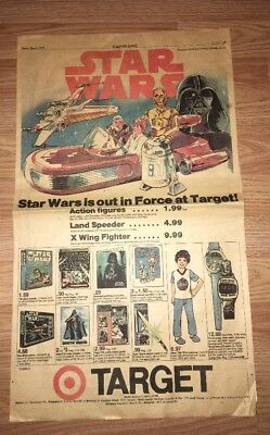 Star Wars Target Toy Ad From 1978 Newspaper Advertisement Luke Vader R2-D2