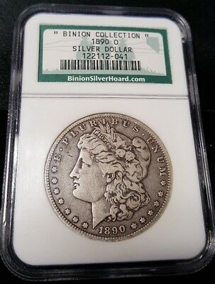 1890 O Binion Collection Silver Morgan Dollar Certified Ngc