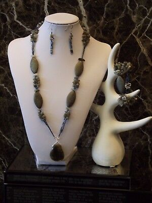 Ocean at Twilight - Necklace, Bracelet and Earrings Set
