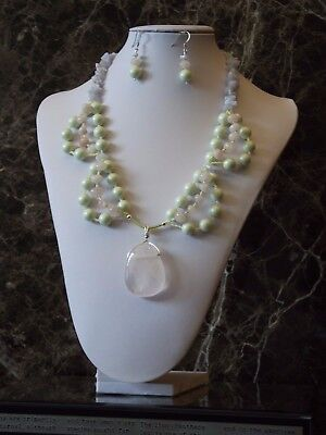 Rococo Tea Party - Statement Necklace and Earrings Set
