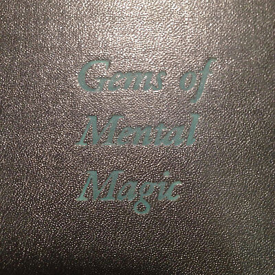 Gems of Mental Magic, Cook, Buckley, SIGNED, 1947, once owned by Charlie Miller