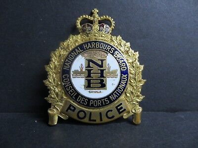 National Harbours Board Obsolete Police Badge   **rare**