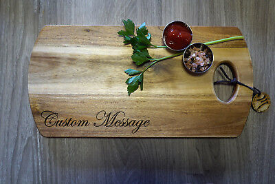 Custom Laser Engraved Personalised Chopping Board, Wooden Serving Board