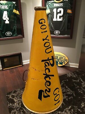 Rare Green Bay Packers 1930s 1940s Megaphone Rawlings Faux Leather Go Pack Go !