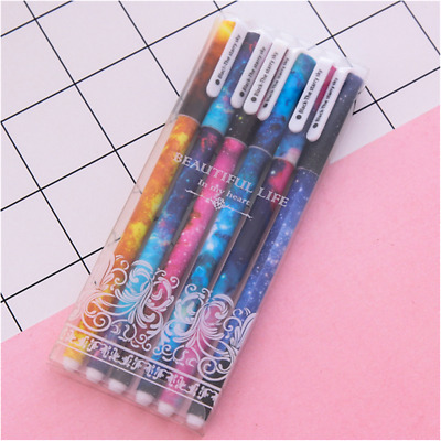 Hot 6Pcs Multicolour Ink Ballpoint Gel Pen Students Office Writing Stationery