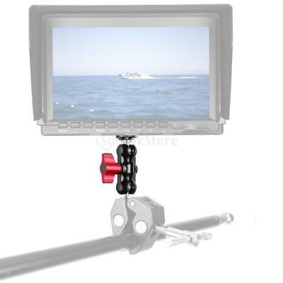 Double Ball Head Shoe Mount with 1/4 inch Tripod Screw for On Camera Monitor