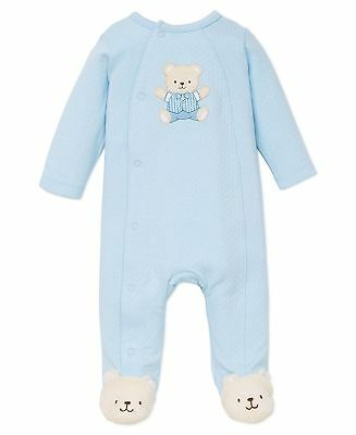 Newborn Infant Clothing Little Me Baby Boys' Footie Light Blue Gift 2 Day Ship