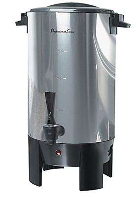 Large Silver Commercial Hot Water Dispenser Catering Appliance 30 Cup Coffee Urn