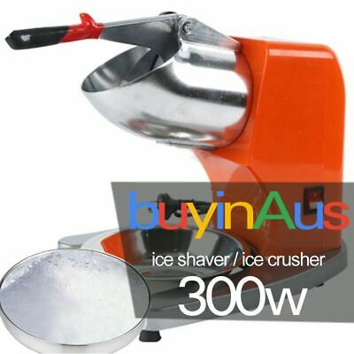 300W Orange Blades 65KG/H Electric Ice Crusher Smoothie Machine Ice Shaver