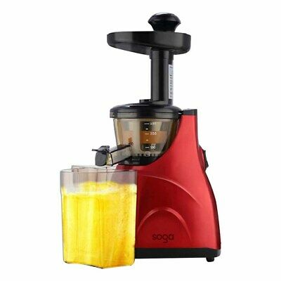 New SOGA Cordless Stainless Steel Cold Press Slow Juicer Fruit Vegetable